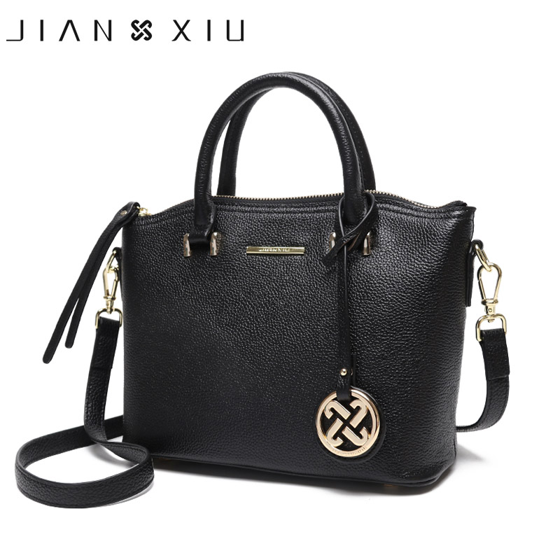 JIANXIU Brand Genuine Leather Handbag Female Casual Leather Tote Top handle Bag