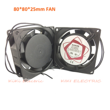 Long Life Ball Bearing type Aluminum AC 220V Axial Blower Fan 8cm(3