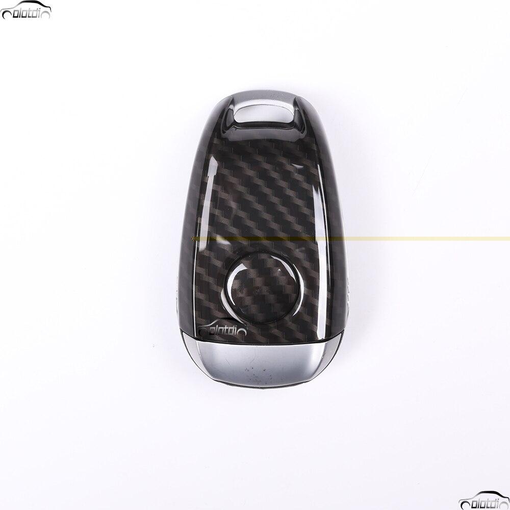 Стайлинга автомобилей углеродного волокна Посмотрите ABS Пластик ключ оболочки автомобильный чехол накладка для Alfa Romeo Giulia стельвио 2017 2018 ав