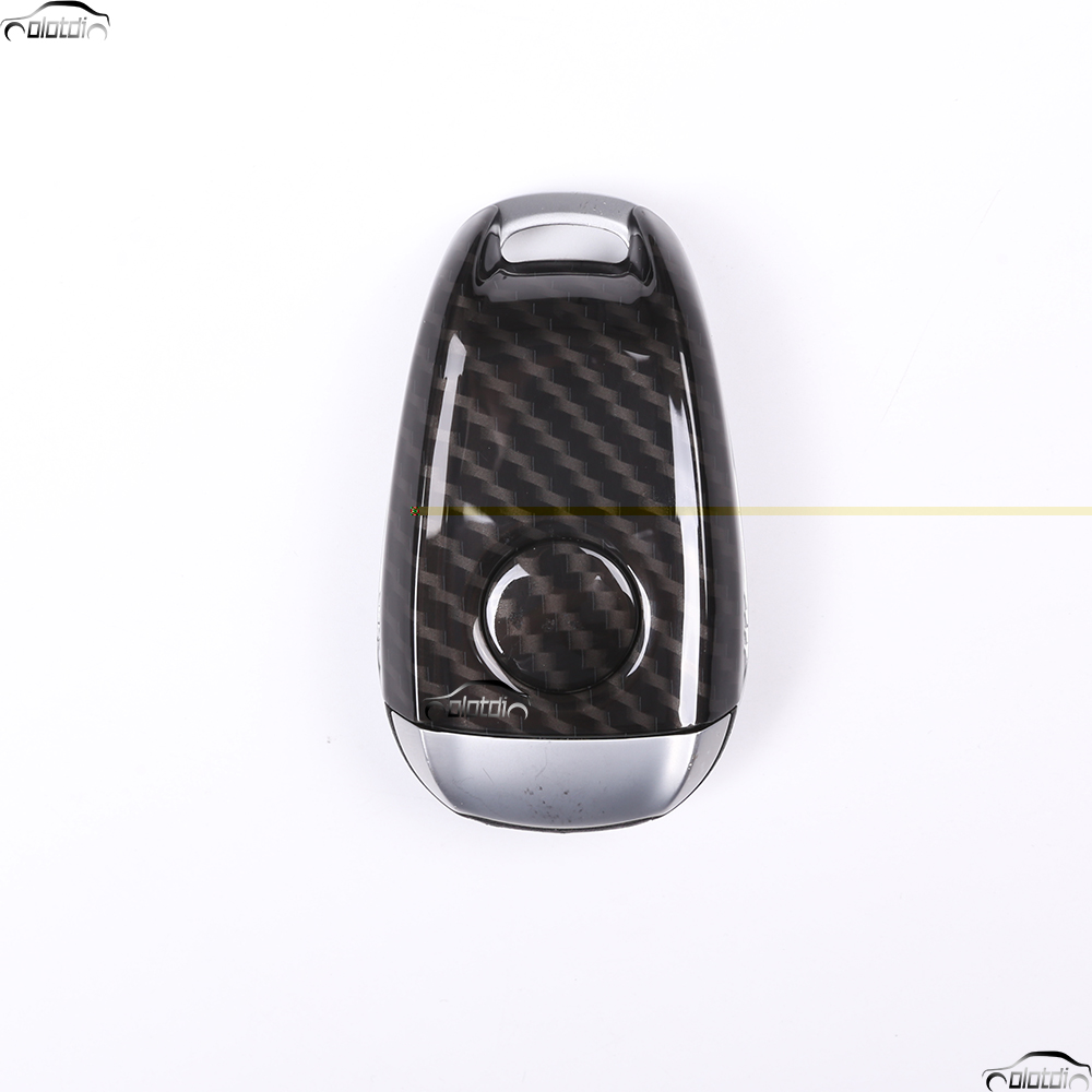 Car Styling Carbon Fiber Look ABS Plastic Key Shell Car Cover Trim For Alfa Romeo Giulia Stelvio 2017 2018 Car Accessories