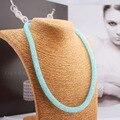 2017 Nuevo Envío de La Venta Caliente de Shamballa Collares Mujer Joyería Fina Malla de Disco De Cristal Collar de La Joyería Declaración Collar C206