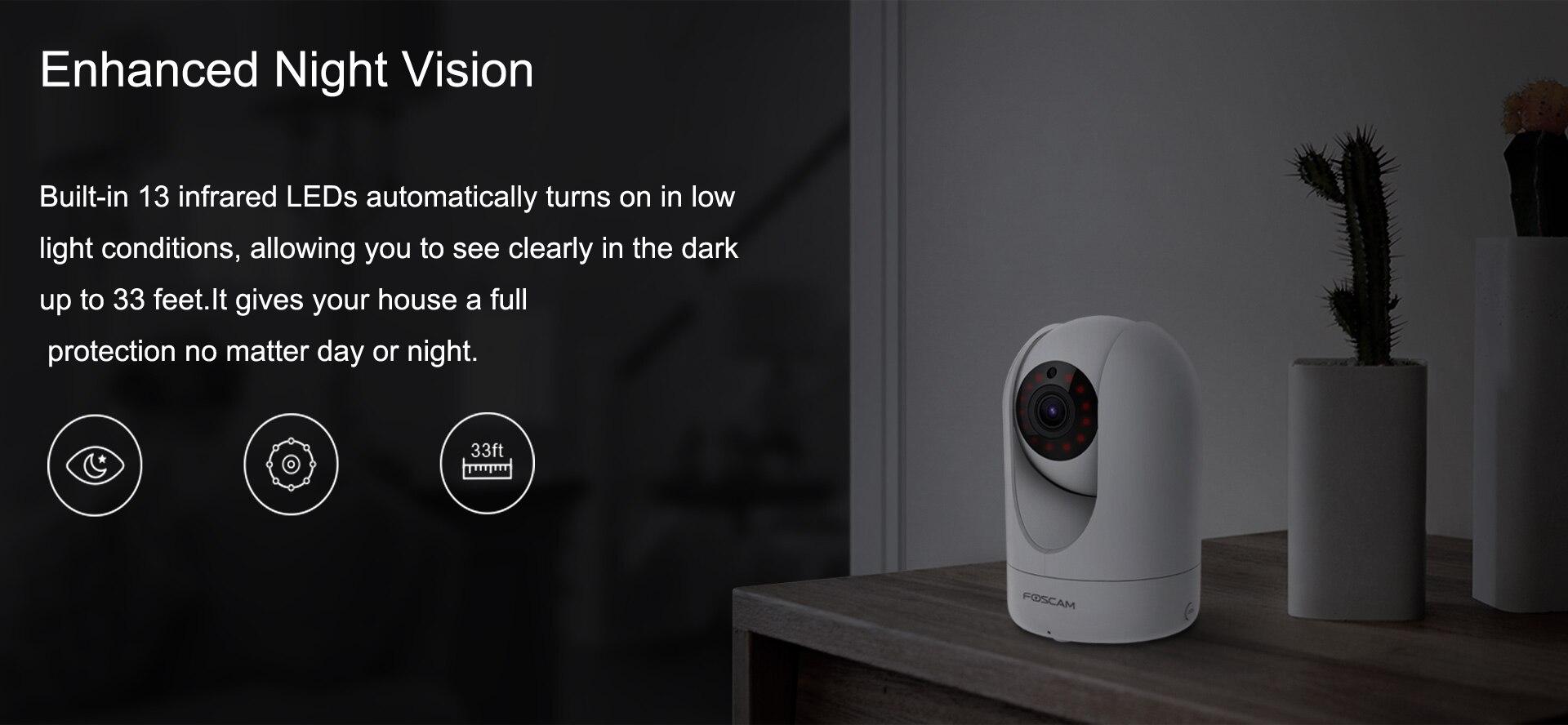 casa pan tilt câmera de vigilância de vídeo de segurança ip
