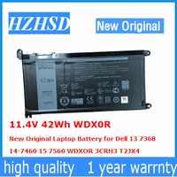 11,4 V 42Wh WDX0R новый оригинальный ноутбук Батарея для ноутбука Dell 13 7368 14-7460 15 7560 wdxor 3CRH3 T2JX4