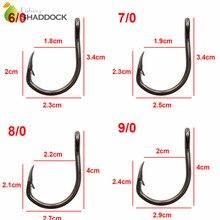 Shaddock Fishing 50pcs 10827 Stainless Steel Fishing Hooks Black Sharpened Live Bait Fishing Hook Set With Box
