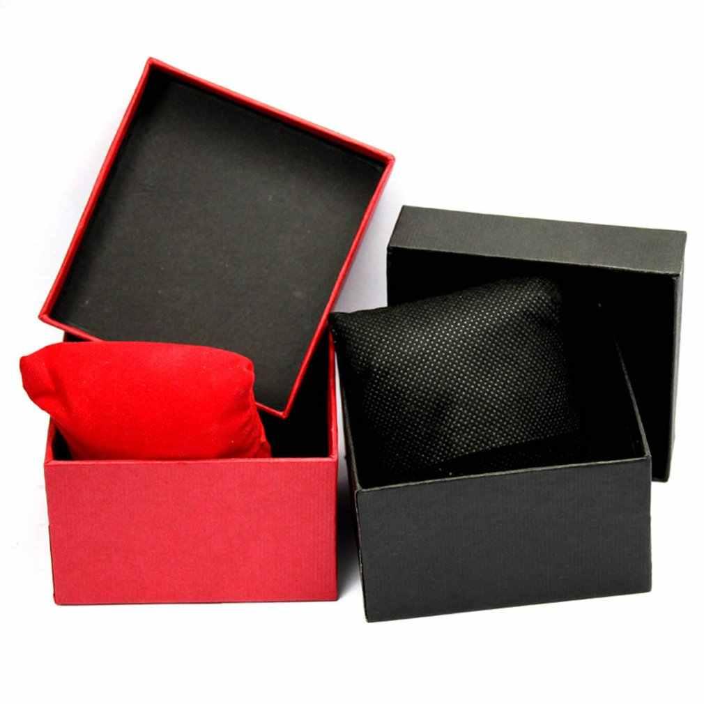 المحمولة عالية الجودة صندوق ساعة أفضل هدية دائم هدية علبة هدية حالة سوار الإسورة ساعة مجوهرات حاوية علب بسيطة 2019