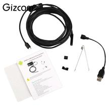 Gizcam 1m/1.5m/2m 7mm Waterproof for Android USB Endoscope LED Inspection Borescope Tube Mini Video Camera Camcorder Black(China)
