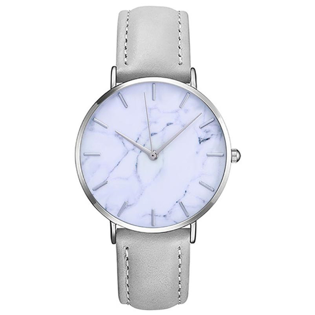 Fashion Women's Watches Marble Leather Analog Classic Casual Wrist Watch Analog