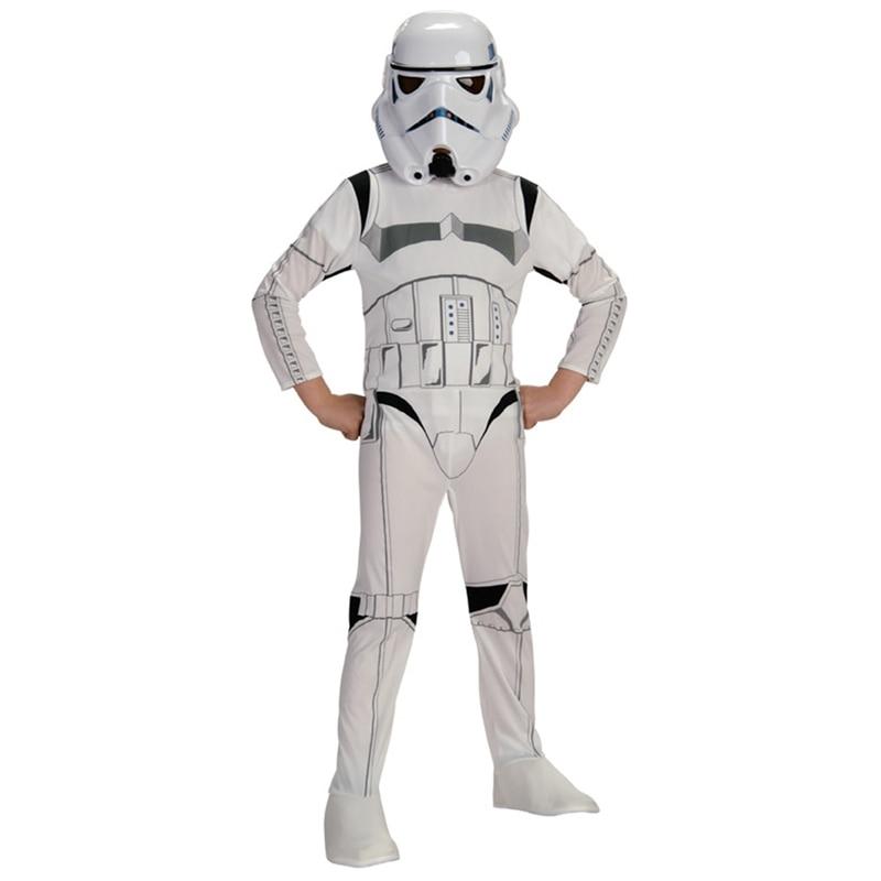 Kind stormtrooper kostuum ruimtestation superheld astronaut kostuums afgedrukt jumpsuit vakantie cosplay kleding voor jongens