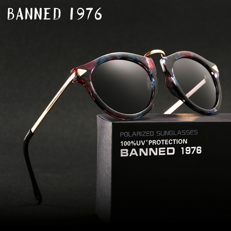 BANNED polarized Sunglasses for women fashion vintage cool driving feminin sun Glasses vintage with original brand box hot sell image