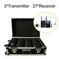 Портативная Зарядка Случае для 2.4 ГГц Беспроводной Экскурсовод Система с 3 передатчика и 27 приемника 3 Передатчик, 27 Приемники)