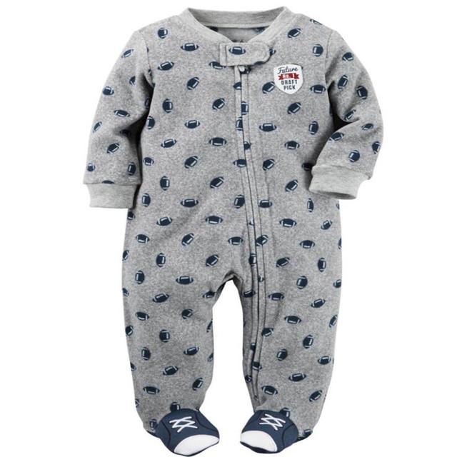 2016 Original Roupas bebê Recém-nascido romper-manga longa velo micro-polar macacão bebê recém-nascido traje da menina para a primavera outono
