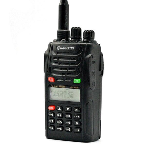 Original WOUXUN KG-UVD1P doble banda Radio de dos vías con 1700 mAh batería transceptor FM UVD1P Walkie Talkie UHF VHF jamón radio