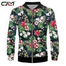 70f94428f42 CJLM полная печать повседневные куртки Для мужчин смешно с цветочным  принтом цветочный 3D куртка лист пальто человек хип-хоп ули.