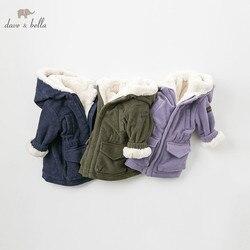 DB8894 dave bella/осенне-зимнее Детское пальто с капюшоном, куртка для новорожденных, Детское пальто высокого качества, Детская верхняя одежда