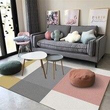 Nordic minimalist geometric large carpet homestay kids room sofa full bedroom bedside crystal velvet rug household anti-skid mat