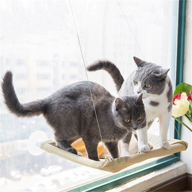 High Quality Mrosaa Hanging Cat Bed Mat Soft Cat Hammock Window Hammocks Kennels 20KG Cat Safe Hanging Shelf Seat Beds Cover Cus
