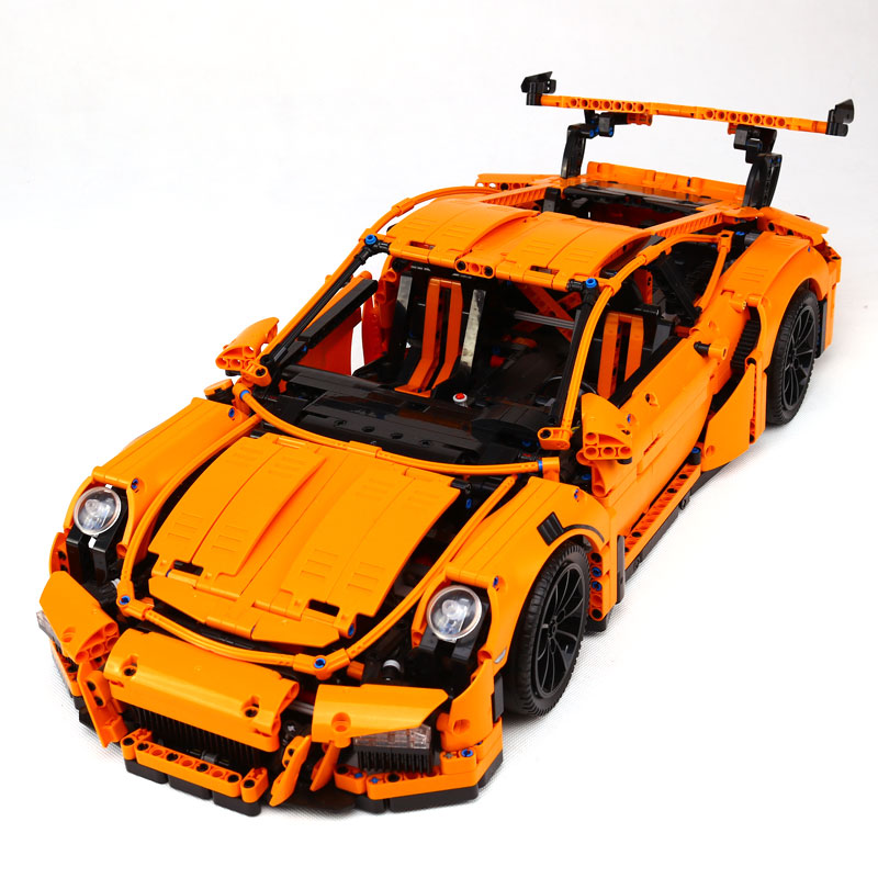 New LEPIN 20001 technic series Race Car Model Building Kits Blocks Bricks Compatible LegoINGlys 42056 Boys Gift Educational Toys compatible legoinglys technic series class sports car f40 1158pcs elementary education building blocks toy for children gift