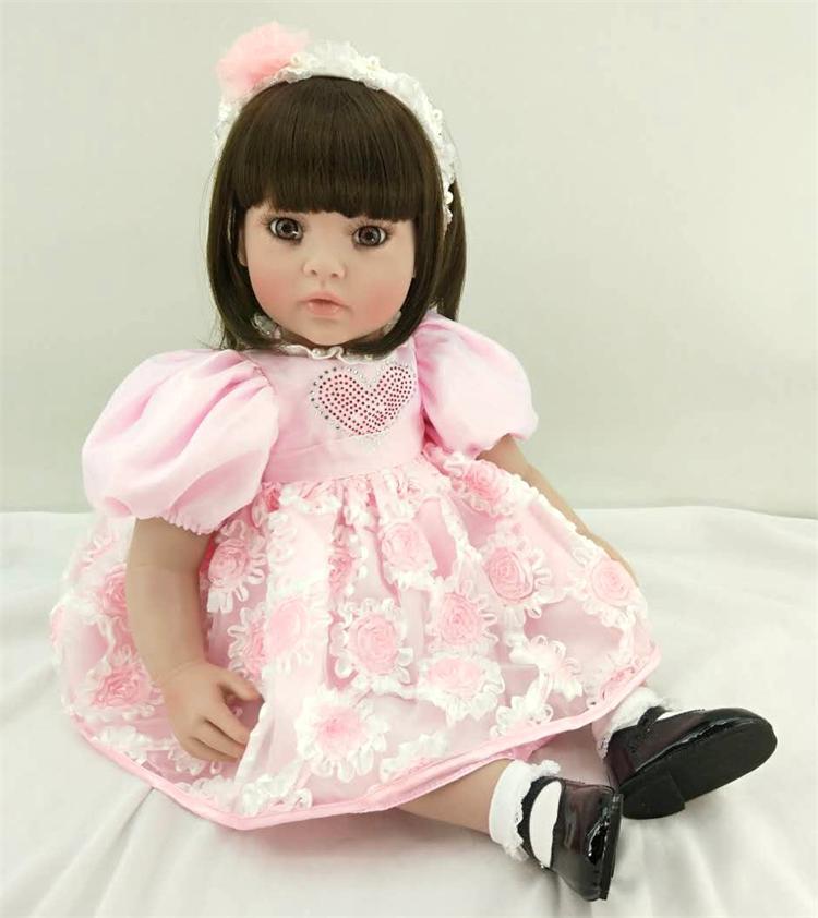 Здесь продается  Silicone Reborn Baby Doll Toys 58cm Lovely Princess Babies Vinyl Toddler Dolls Birthday Present Christmas Gifts Girls Brinquedos  Игрушки и Хобби