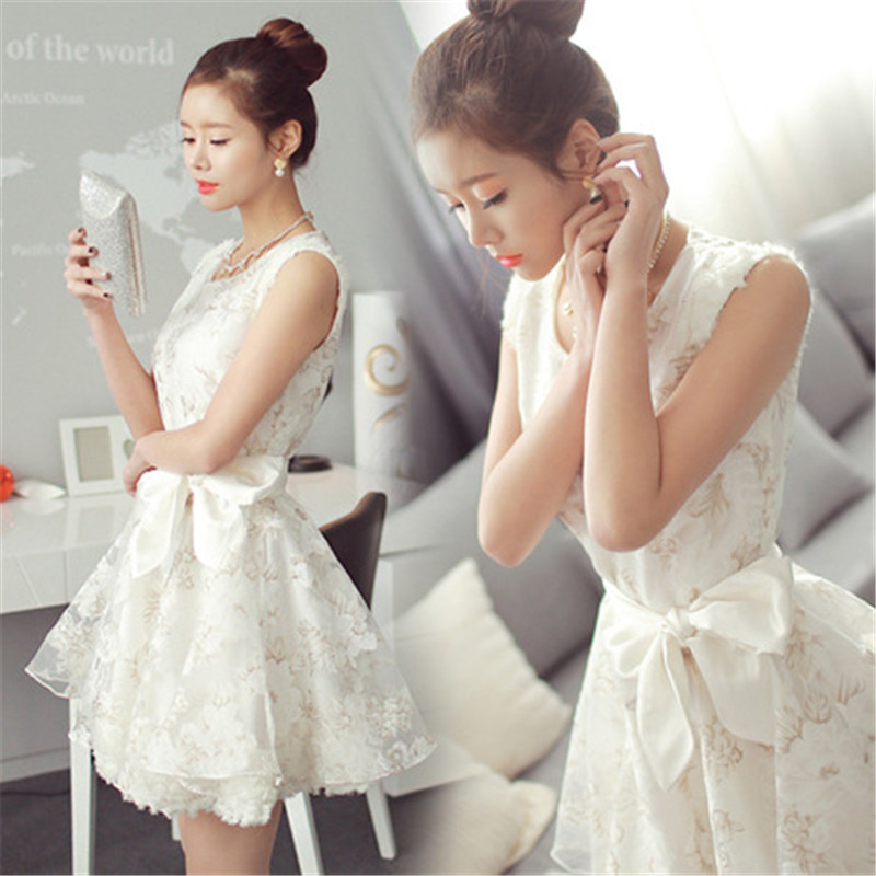 fcceecd4b9d RENBANG Fashion Women White Dress Lace Mini Dresses Lady s Princess Party  Dresses Summer Short Ball Gown Plus Size-in Dresses from Women s Clothing  on ...
