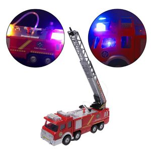 Image 2 - Spray Water Truck Toy Fireman Fire Truck Car Music Light Educational Toys Boy Kids Toy Gift