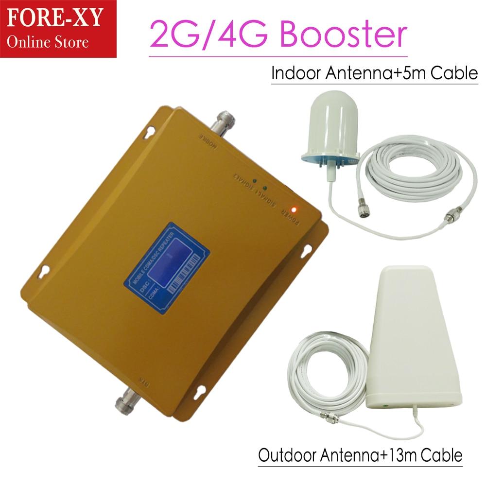 65dbi double bande booster CDMA850 DCS 1800 MHZ BOOSTER CDMA + DCS répéteur 4g LTE booster, amplificateur répéteur 1800 mhz