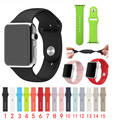 DALAN high quality 1:1 original colorful 140mm band For Apple Watch Silicone sport 42mm strap 38mm Series 1 Series 2