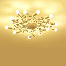 Modern Lights Iron LED Ceiling Lights Glass Hanging lamp Bedroom Living Room Restaurant Hotel Rooms De Fixtures Luminaire lustre