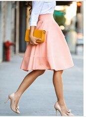 Новый стиль модные женские туфли Юбки для женщин стрейч Высокая Талия империя колен Длина Для женщин S сексуальные юбки для вечеринок и ночных клубов Розовый