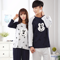 Lovers Sleepwear Cotton Lovely Adult Pajamas casual tracksuit for women Cartoon Mickey Pattern plus size M-XXXL 4XL Pyjamas men