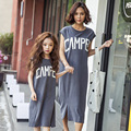 Fashion mom and kids family matching outfits Baby Girls vest dress casual cotton mother daughter Children clothing DQ244
