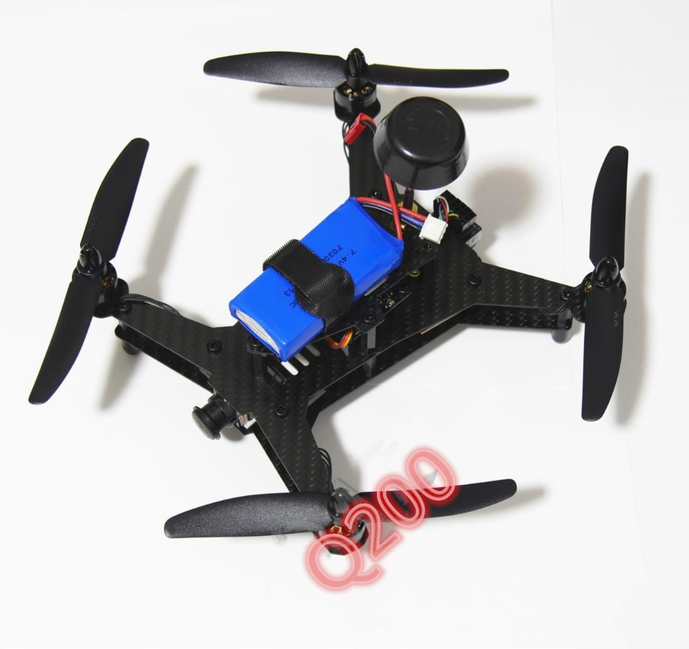 DIY FPV race mini drone Q200 quadcopter pure carbon fiber frame 41g Ultralight High speed unassembled diy fpv mini drone qav210 quadcopter frame kit pure carbon frame cobra 2204 2300kv motor cobra 12a esc cc3d naze32 10dof