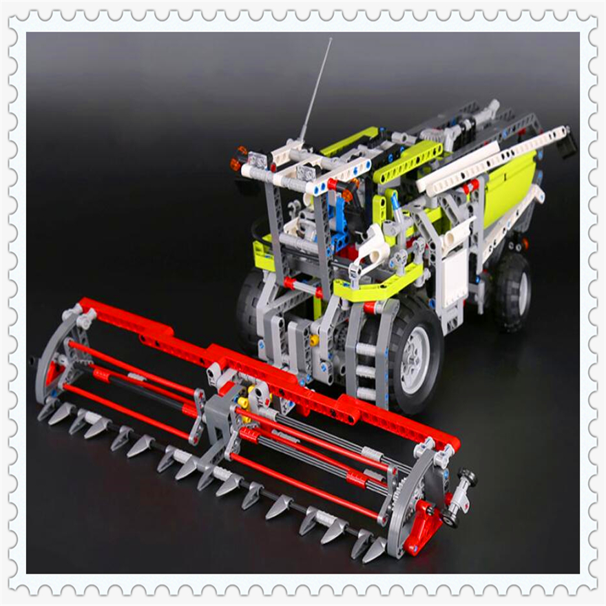 1107Pcs Technic Series The Combine Harvester Model Building Block Toys LEPIN 20041 Gift For Children Compatible Legoe 8274 lepin 22001 pirate ship imperial warships model building block briks toys gift 1717pcs compatible legoed 10210