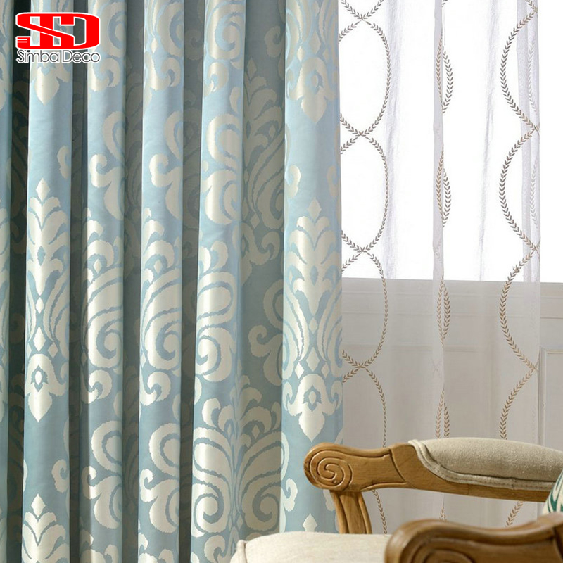 Aliexpresscom Buy Luxury Blue Blackout Curtains For