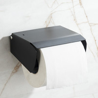 304 Stainless Steel Black European Sanitary Toilet Paper Holder Unique Toilet Roll Holder Bathroom Accessories