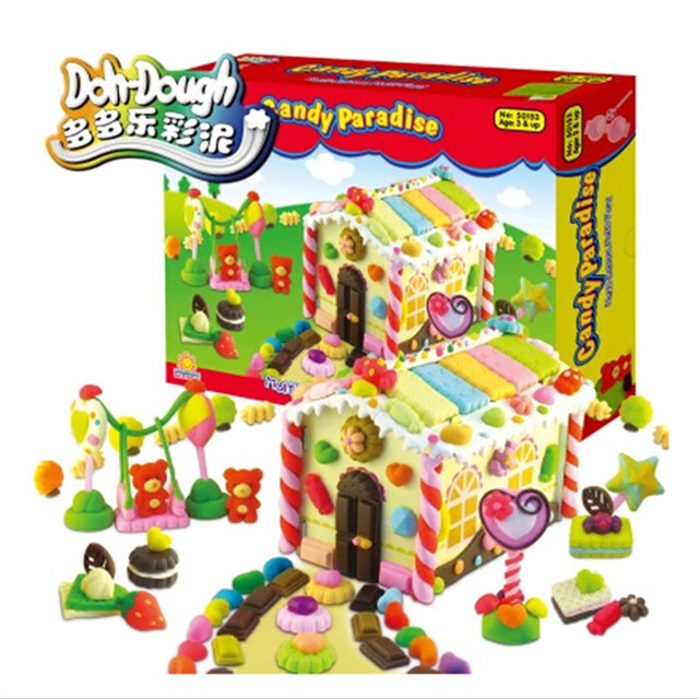 New Arrival Candy Paradise Plasticine Play Doh,Funny Handmade DIY Toy Plasticine for Children Birthday Gift Free Shipping
