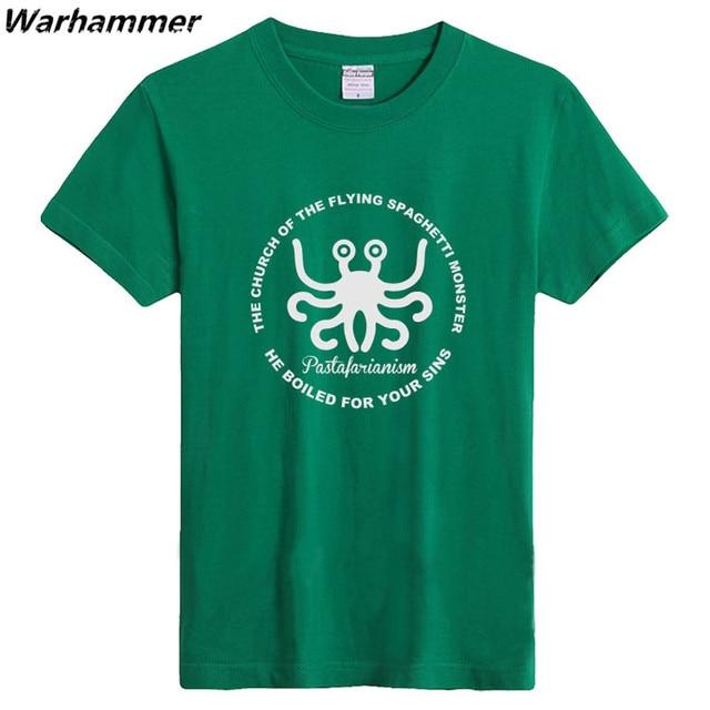 The Flying Spaghetti Monster Logo Printed T shirt Game Club Mens T ...