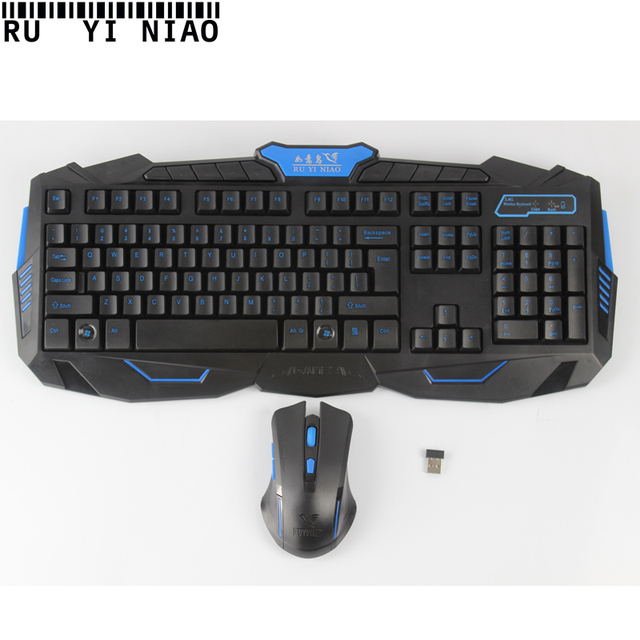 2017 Wireless Keyboard and Mouse Set With USB 3.0 Mice teclado for Desktop Laptop Black Edition Computer Accesories