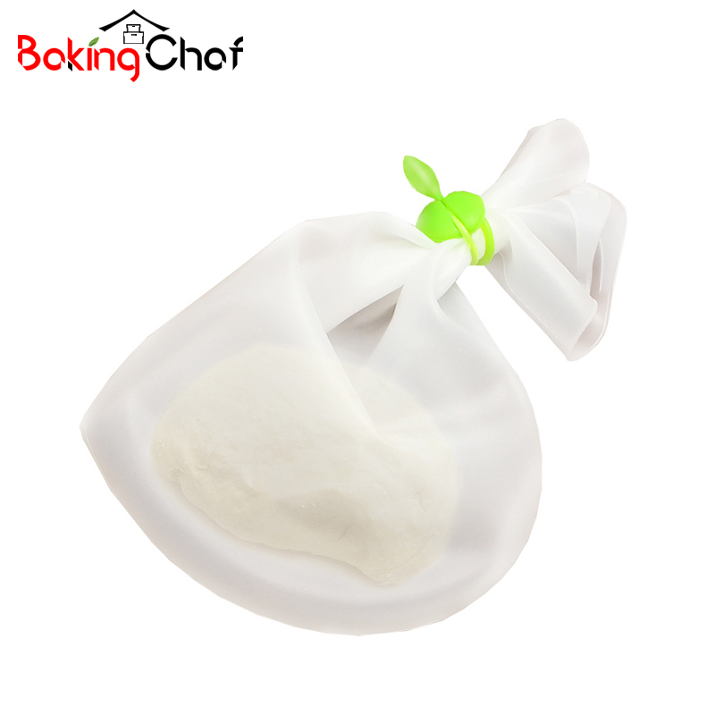 BAKINGCHEF Big Size Silicone Pizza Dough Maker Roller Bag Mixer Cookie Dough Homemade Baking Pastry Tool Kitchen Dining Bakeware