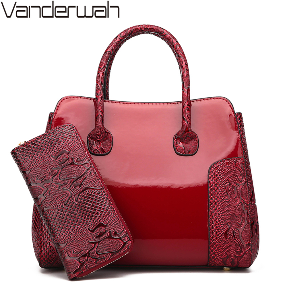 2 Set Luxury Handbags Women Bags Designer purses and handbags High Quality Female Shoulder Bags for women Brands Casual Tote sac 6 set luxury handbags women bags designer high quality female shoulder bags fashion tassel famous brands casual tote pu leather