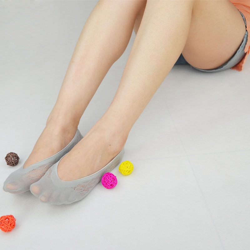 Non-slip Socks Sexy Lace Invisible Women Liner Low Cut