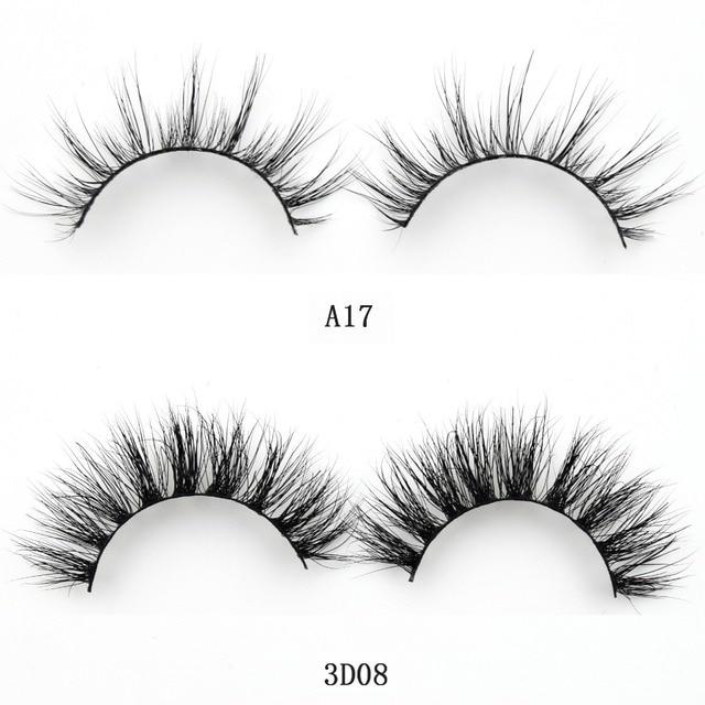 Visofree Mink Lashes 3D Mink False Eyelashes Long Lasting Lashes Natural & Lightweight Mink Eyelashes 1 pair Glitter Packaging 5