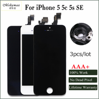Mobymax 3PCS Great AAA+ Ecran For iPhone 5 5S 5C SE LCD Display Screen with Original LCD in Black/White Promise all test Work