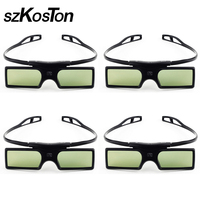 4pcs 3D Glasses Active Shutter For Optoma Sharp LG Acer BenQ Acer Dell Vivitek G15 DLP