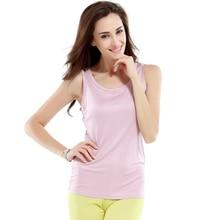 100% Silk Knitted Camisole Women Comfortable Silk Tank Top Women Underwear Plain Color
