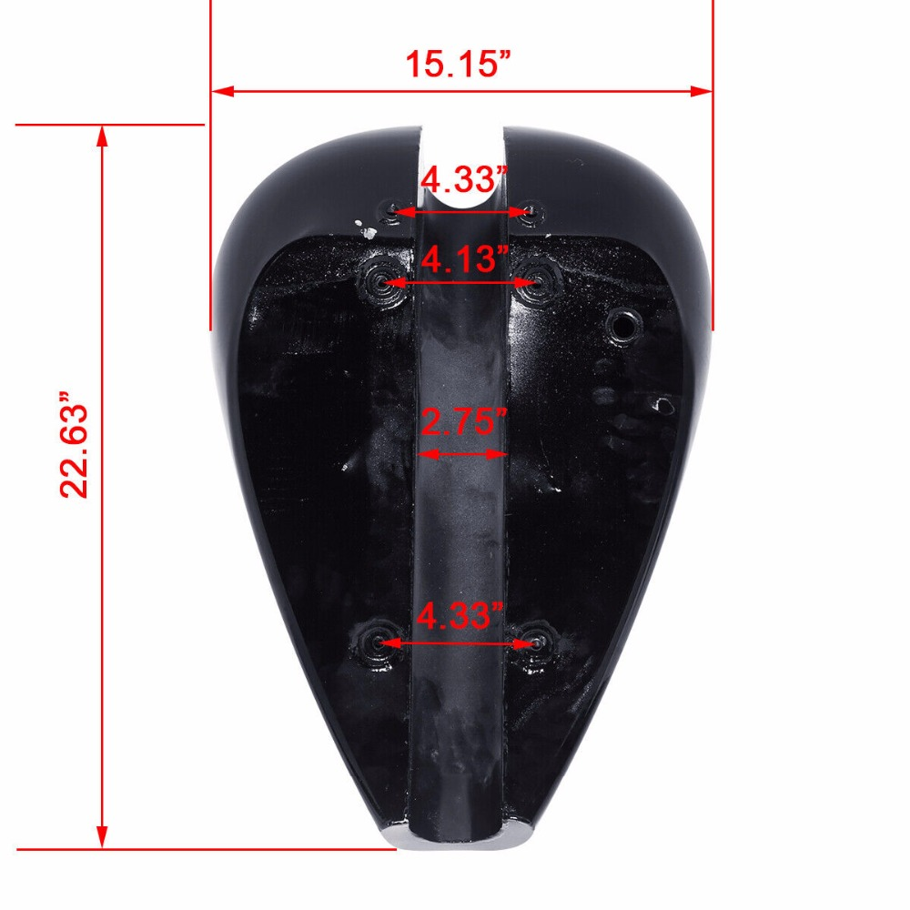 "Image 4 - Motorcycle 4.7 Gal. 5"" Stretch Gas Fuel Tank For Harley Custom Chopper Bobber Painted Unpainted-in Fuel Tank from Automobiles & Motorcycles"