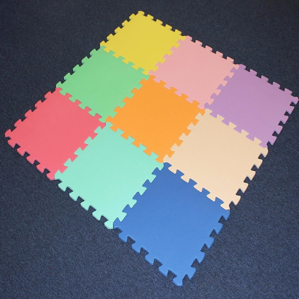 9pcs/bag Meitoku Baby EVA Foam Play Puzzle Mat/Mix Color Interlocked Exercise Tiles And Carpet Floor Rug For Kid,Each 30X30cm