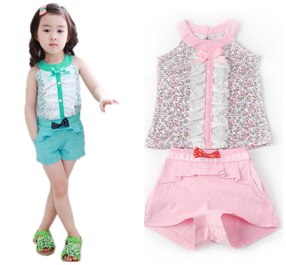 2017 Summer Style Baby Girl Kids Clothes Bow Princess