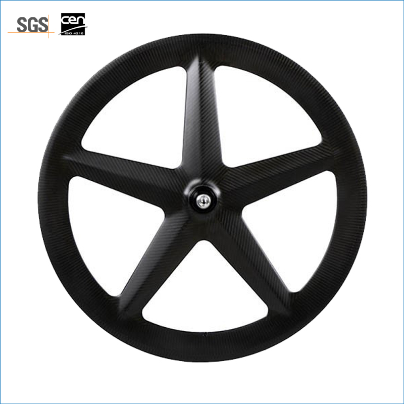 Supper carbon 3K finish ultralight weight 5 spoke carbon bicycle wheel front/rear tubular track/road wheel for shimano cassette