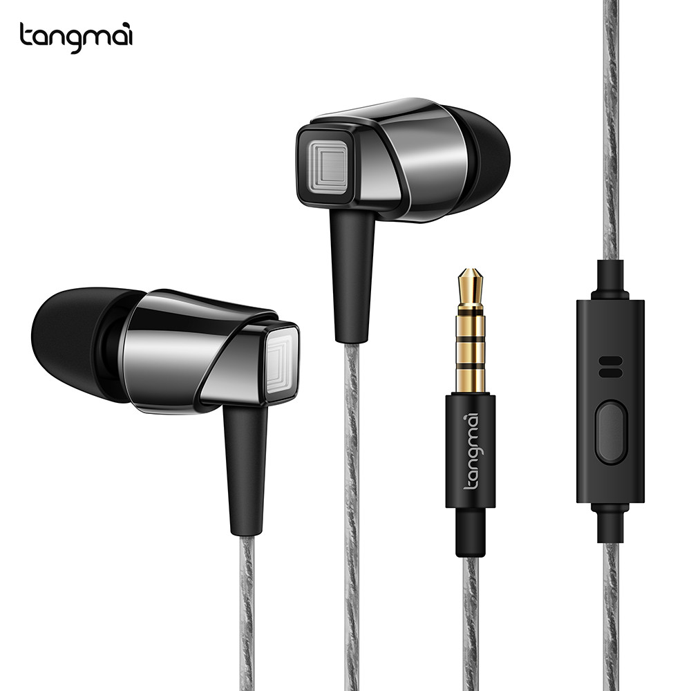 TANGMAI F3 Super Bass In Ear Earphone Noise Isolating Patent Earphones With Mic Wired Control For iPhone/ Andrio