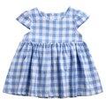 Лето Новорожденный Принцесса Младенческая Baby Дети Девушки С Коротким Рукавом Плед Проверьте Платье Партии Платье Платье